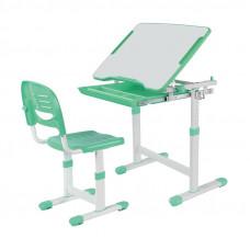 Растущая парта и стул FunDesk Piccolino (Цвет столешницы:Зеленый, Цвет ножек стола:Белый)