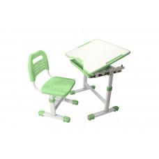 Комплект парта и стул трансформеры Fundesk Sole (Цвет столешницы:Зеленый, Цвет ножек стола:Белый)