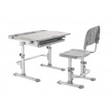 Комплект Cubby парта и стул трансформеры Disa (Цвет столешницы:Белый, Цвет ножек стола:Серый)