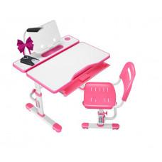 Комплект Cubby парта и стул трансформеры Botero (Цвет столешницы:Белый, Цвет кромки:Розовый)