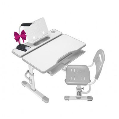 Комплект Cubby парта и стул трансформеры Botero (Цвет столешницы:Белый, Цвет кромки:Серый)