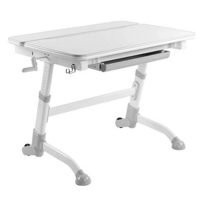 Парта-трансформер для школьника FunDesk Volare (Цвет столешницы:Белый, Цвет ножек стола:Серый)