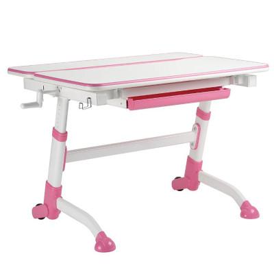 Парта-трансформер для школьника FunDesk Volare (Цвет столешницы:Белый, Цвет ножек стола:Розовый)