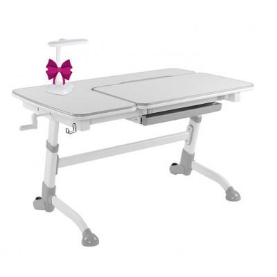 Парта-трансформер для школьника FunDesk Amare (Цвет столешницы:Белый, Цвет ножек стола:Серый)