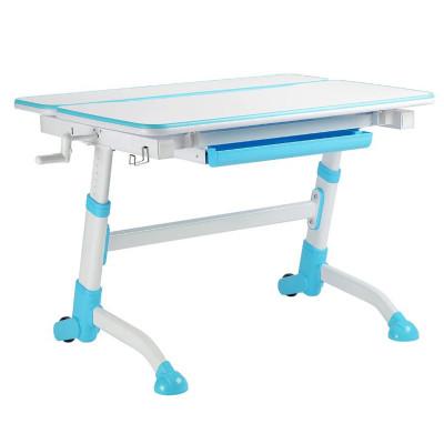 Парта-трансформер для школьника FunDesk Volare (Цвет столешницы:Белый, Цвет ножек стола:Голубой)