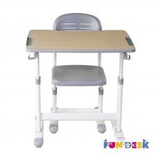 Парта для малышей и стул FunDesk Piccolino II (Цвет столешницы:Голубой, Цвет ножек стола:Белый)
