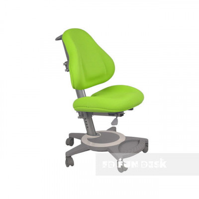 Подростковое кресло для дома FunDesk Bravo (Цвет обивки:Зеленый, Цвет каркаса:Серый)
