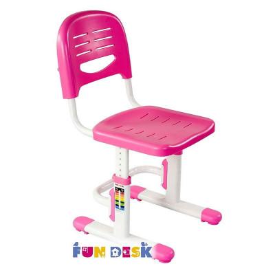 Детский стул FunDesk SST3 (Цвет каркаса:Белый, Цвет товара:Розовый)