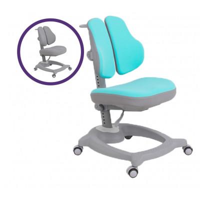 Ортопедическое детское кресло Fundesk Diverso (Цвет обивки:Голубой, Цвет каркаса:Серый)