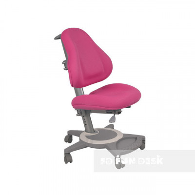 Подростковое кресло для дома FunDesk Bravo (Цвет обивки:Розовый, Цвет каркаса:Серый)