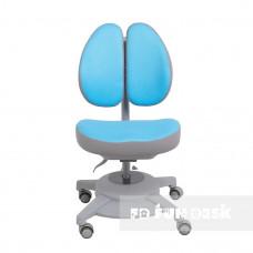 Ортопедическое детское кресло Fundesk Pittore (Цвет обивки:Голубой, Цвет каркаса:Серый)