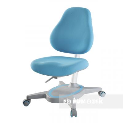 Ортопедическое детское кресло FunDesk Primavera I (Цвет обивки:Голубой, Цвет каркаса:Серый)