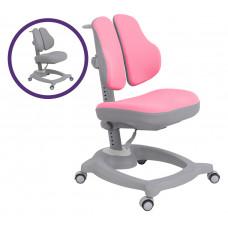 Ортопедическое детское кресло Fundesk Pittore (Цвет обивки:Розовый, Цвет каркаса:Серый)