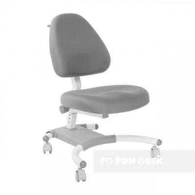 Подростковое кресло для дома FunDesk Ottimo (Цвет обивки:Серый, Цвет каркаса:Белый)