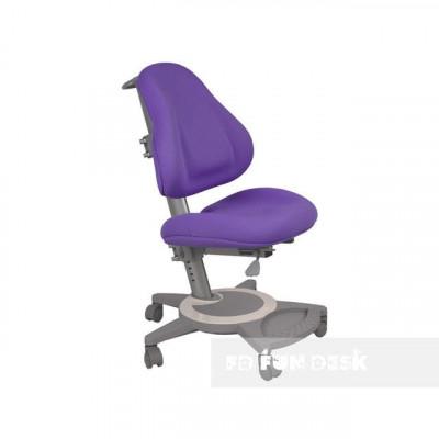 Подростковое кресло для дома FunDesk Bravo (Цвет обивки:Фиолетовый, Цвет каркаса:Серый)