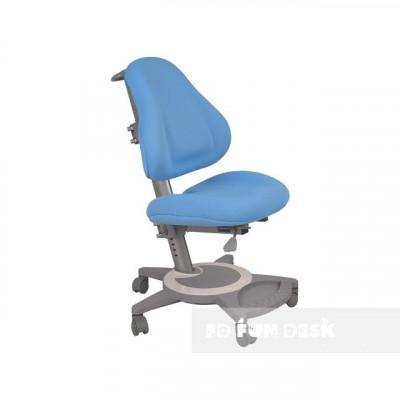 Подростковое кресло для дома FunDesk Bravo (Цвет обивки:Голубой, Цвет каркаса:Серый)
