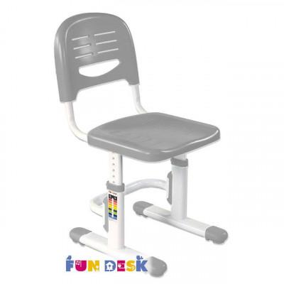 Детский стул FunDesk SST3 (Цвет каркаса:Белый, Цвет товара:Серый)