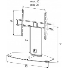 Настольная подставка под ТВ Sonorous PL 2344 B-HBLK